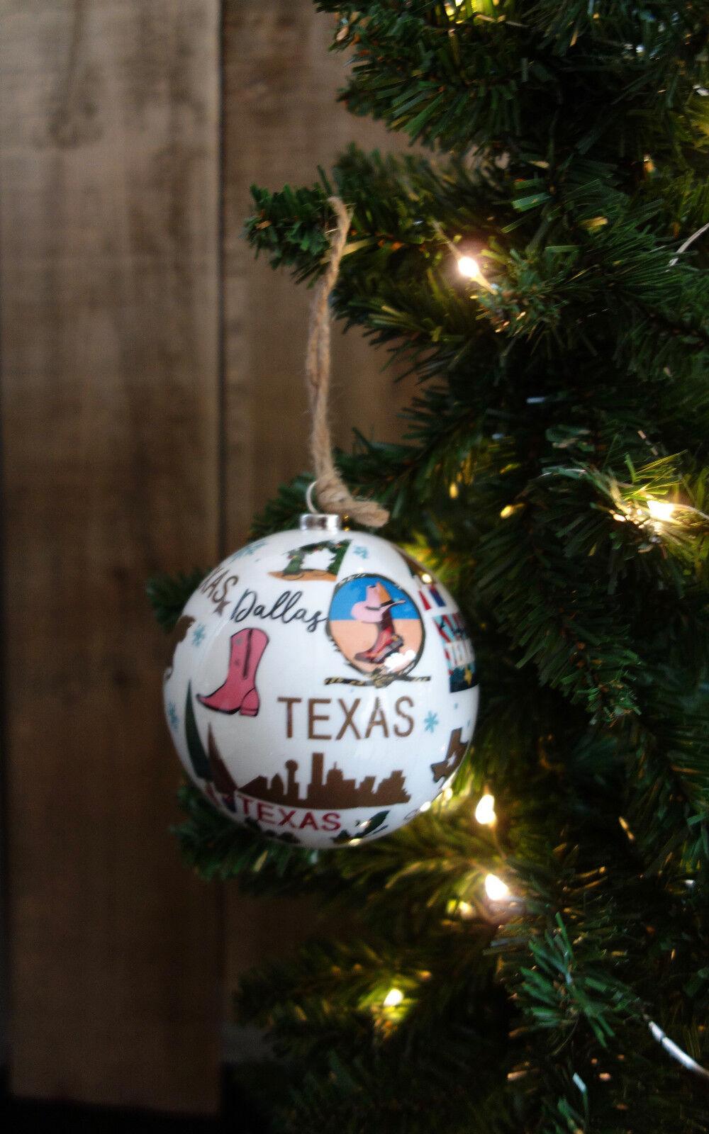 * Wow! Texas bola de árbol de Navidad de Adorno * Lindo *