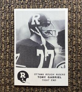 1981 Jogo CFL #2 Tony Gabriel Ottawa Rough Riders Syracuse RARE Rookie Card