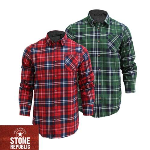 Mens Albert Lumberjack Brushed Cotton Check Flannel Casual Shirt Brave Soul