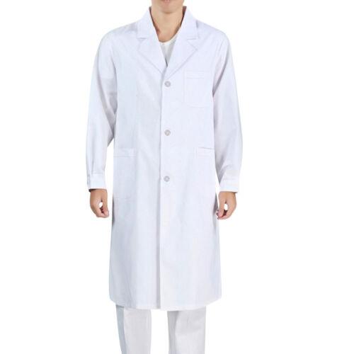 White Lab Coat Uniform Medical Doctor Long Jackets Nursing Clothes For Unisex