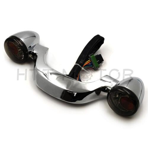Black Rear Turn Signal Brake Light Bar For Harley Davidson Street Glide 2010-up