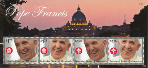 Micronesia 2014 MNH Pope Francis 4v MS I Popes Roman Catholic Church Religion