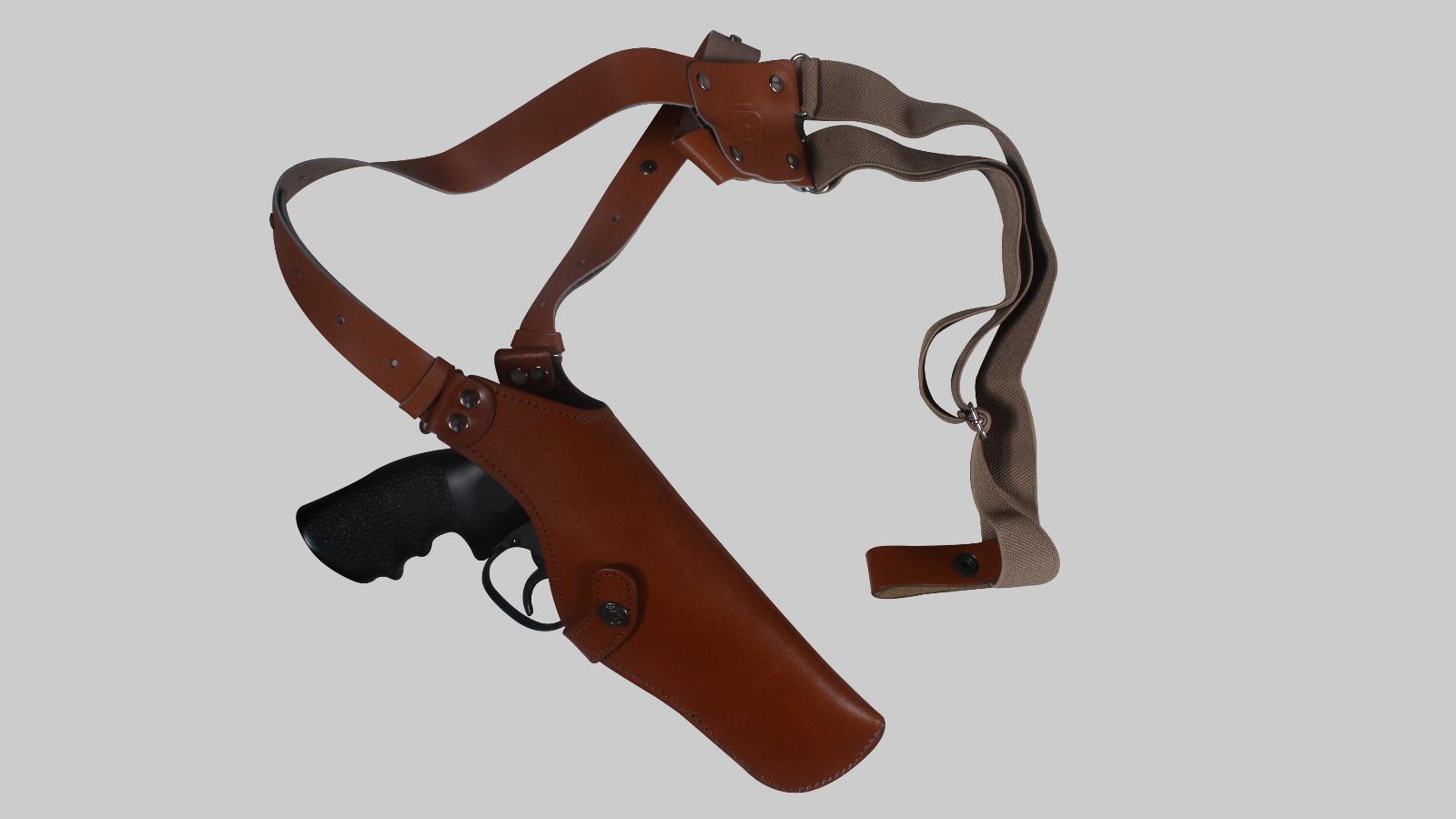 K452-SW Leder Vertical Shoulder Holster with Suede Lining Smith&Wesson 686 5