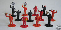 12 Race Car Driver Figures Racing Party Goody Bag Toy Favor Cake Topper Supply