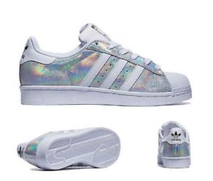 Iridescent Adidas 9 Taille Shine Sparkle Superstar Uk 41wq15x