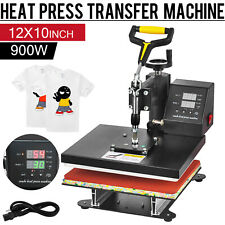 "360 Degree T-Shirt Heat Press Sublimation Transfer Machine 12"" x 10"" Swing Away"