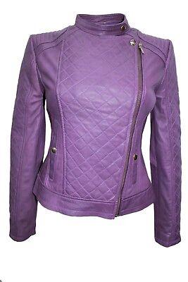 Luxury New Ladies Biker Waistcoat White Real Nappa Leather Casual Style Design