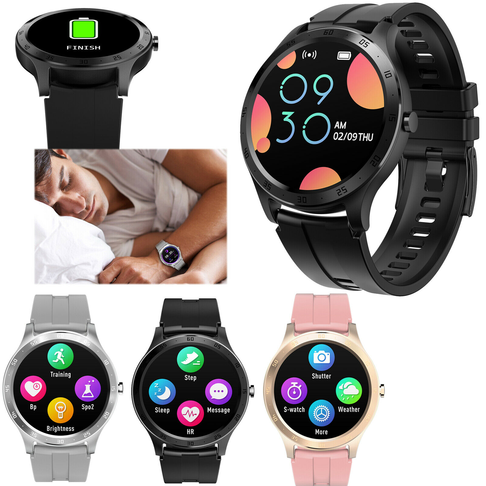 Smart Watch Touch Screen Wristwatch Heart Rate Monitor For Men Women Samsung IOS Featured for heart men monitor rate screen smart touch watch wristwatch