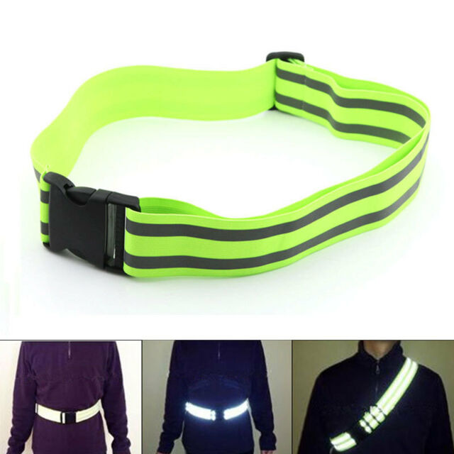 High Visibility Reflective Safety Security Belt Running Work Walking Biking Hot