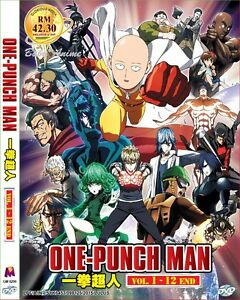 JAPAN-DVD-Anime-ONE-PUNCH-MAN-Complete-TV-Series-1-12-End-English-Sub-Region-0