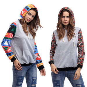 Women-039-s-Boho-Print-Long-Sleeve-Pullover-Hoodie-Sweatshirts-Fashion-Hooded-Tops