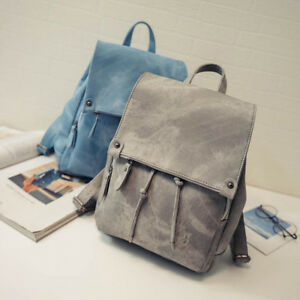 2018 womens Girl Leather messenger bag School travel book backpack ... 51fc69388619f