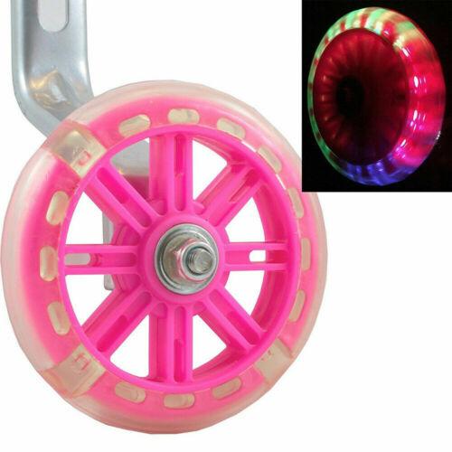 """LED Flashing Children Bicycle Stabilisers Kids Safety Training Wheel 12-20/"""" Bike"""