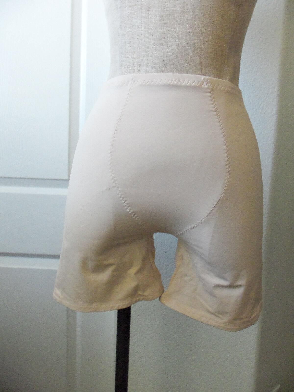 Chantelle 1229 Nude Stretch Nylon Blend Long Leg Panty Girdle Shaper - XL