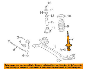 toyota oem 17 18 corolla rear suspension strut assembly 4853002f90 Suspension Diagram image is loading toyota oem 17 18 corolla rear suspension strut