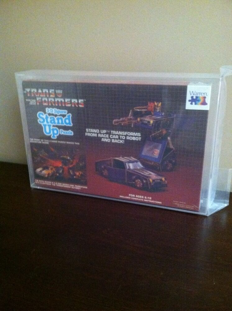 1984 G1 Warren 3d Transformador Stand Up Puzzle azulstreak Afa Graduado ¡ Mira