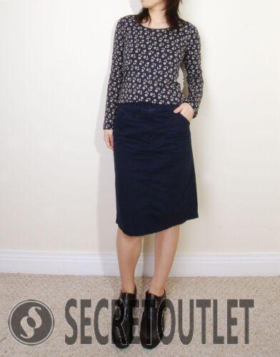 New Ladies Navy SeaSalt Mono Floral Print Tianna Organic Cotton Top T-shirt