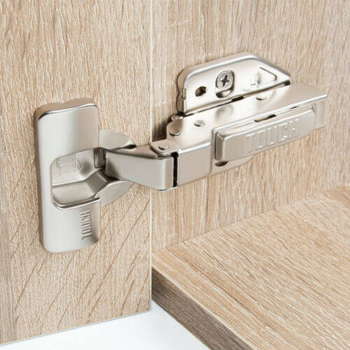 105 Degree SOFT Close Cabinet Door Hinge Concealed Euro Half Overlay H-Quality