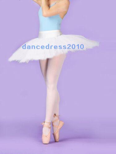 NWT White Adult Ladies Professional Ballet Tutu Hard Organdy Platter Dance Skirt