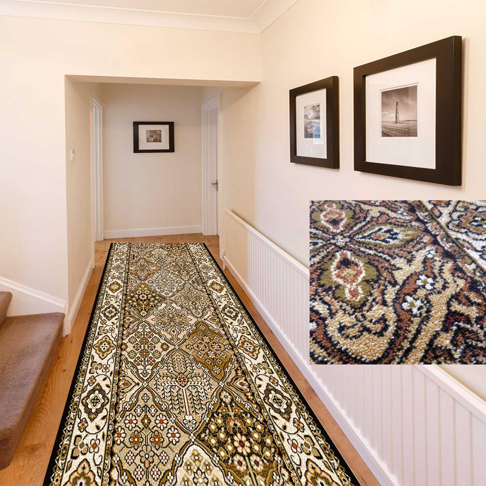 Alfiere TAPPETO Ponte tappeto alfiere Corridoio Classico olive 70 80 100 120 cm di larghezza