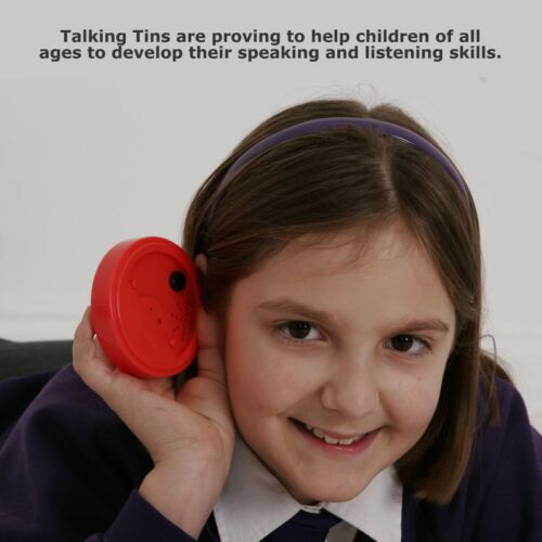Talking Tins Voice Recorder 40secs Pk3 Educational Speaking and Listening skills