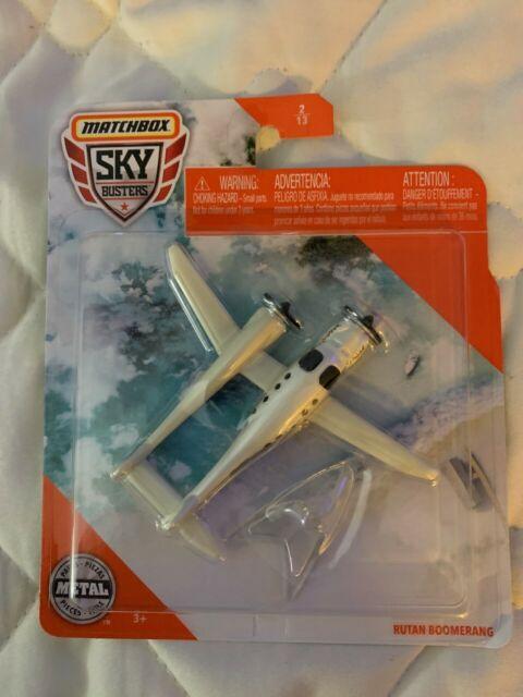 2020 Matchbox Sky Busters® #2 Rutan (Model 202) Boomerang WHITE PEARL / MOC