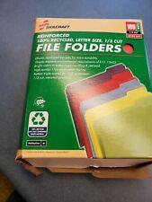 13 Cut Letter Size Red Manila File Folder 151782 Lc Industries Lot Of 12 Folder