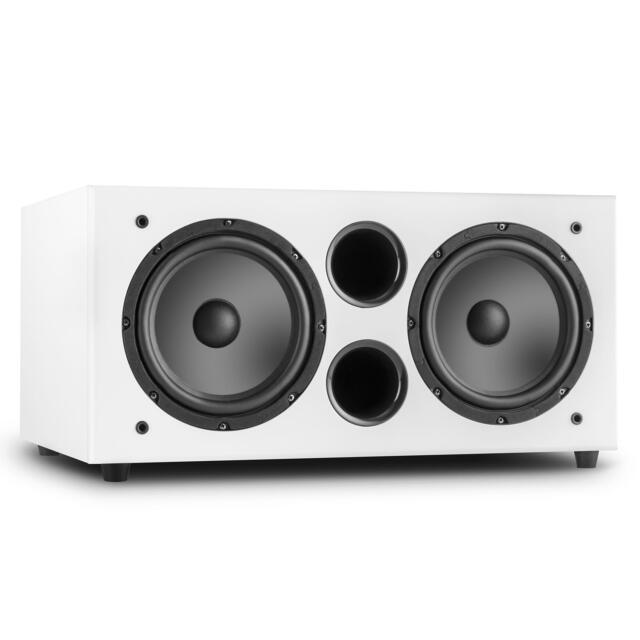 "2 X 8"" ACTIVE SUBWOOFER BASS BOX EQ 500W MAX DJ PA HOME KARAOKE * FREE P&P UK"