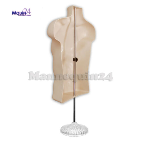 Flesh Plastic Men/'s Dress Form One Mannequin Male Torso with Stand /& Hanger