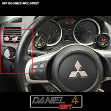 08 15 Mitsubishi Evo Lancer Single Gauge Pod 52mm  (OEM) Driver Side Dash Trim