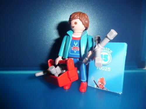 Playmobil Figures Serie 15 Boys Mechaniker mit Werkzeug Set 70025