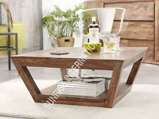 Taper Wooden coffee center table with bottom shelf !