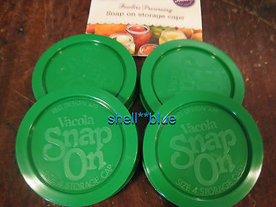 Fowlers Vacola BRAND NEW Snap on Size 4 Storage Caps