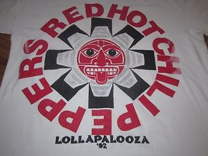 43e5a7e35a053 RED HOT CHILI PEPPERS VINTAGE TEE XL TOUR 92 RARE AND NICE | eBay