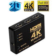 Hot 4K 2k 3 Port HDMI 1.4 1080P Switch Splitter For HDTV Blu-Ray Xbox 360 PS3