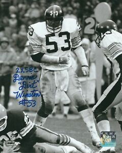 42d746172b8 Image is loading Autographed-DENNIS-WINSTON-2X-SBC-Pittsburgh-Steelers-8x10-