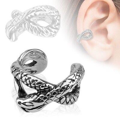 AB Gem Triple 3 Bar 316L Surgical Steel Fake Cartilage Clip on Ring Ear Cuff
