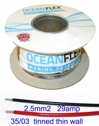13AWG Marine TINNED Thin wall cable 2.5mm², Low Voltage CM2.5 Auto