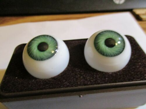 Germany Doll Mannequin 20 mm Vintage Green Glasaugen Glass Eyes 13 mm Iris W