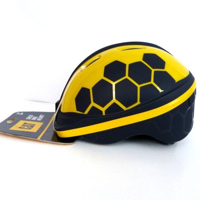 fe13d22e4 Childs Bike Helmet Caterpillar CAT Kids Boys Girls Yellow Black Ages 5