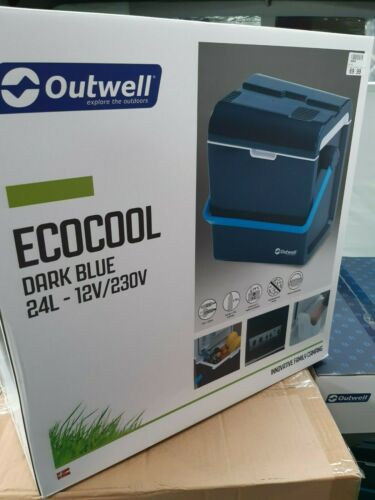 Outwell Cool Box ECOcool Lite Blue 24L Camping Food Ice Storage Refrigerator