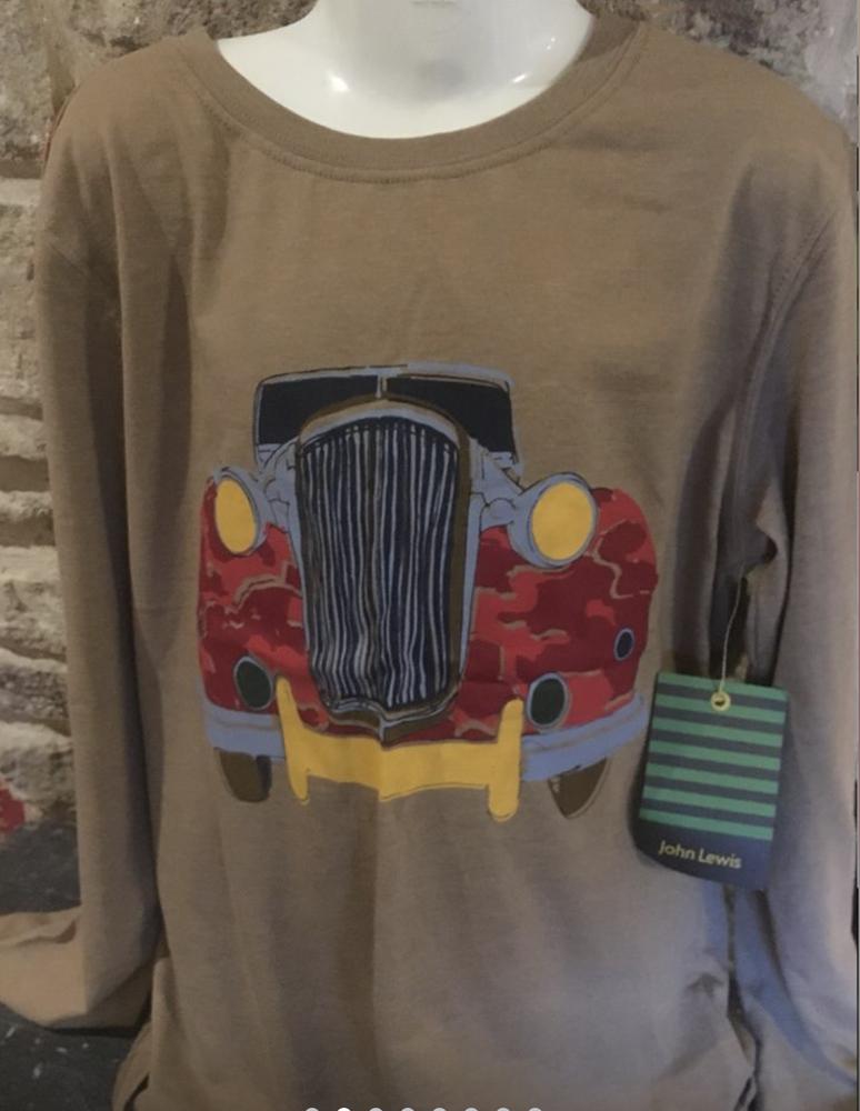 HonnêTe John Lewis à Manches Longues Voiture T Shirt - 10 Ans Bnwt Une Grande VariéTé De ModèLes