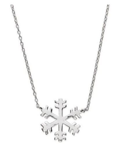 Giani Bernini Holiday Sterling Silver Snowflake Pendant Necklace $70 Gift Box