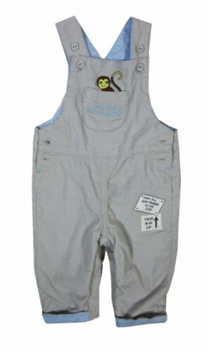 Boys Baby Boy Dungaree Grey Monkey Outfits 0//3 3//6 6//9 9//12 12//18 months