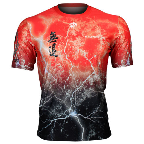 Full print Crew neck graphic T-shirt Training Sport Gym MMA FR-303R BTOPERFORM