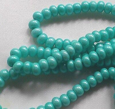"""Czech Seed Beads 6/0 """" TERRA PEARL OPAQUE PEPPER MINT """" strands"""