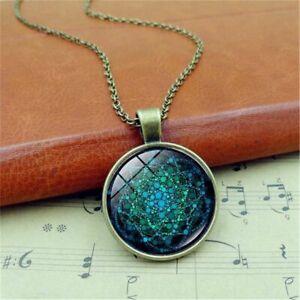 Mandala-Pendant-Gifts-Chakra-Glass-Necklace-Flower-Of-Life-Necklace-Jewelry