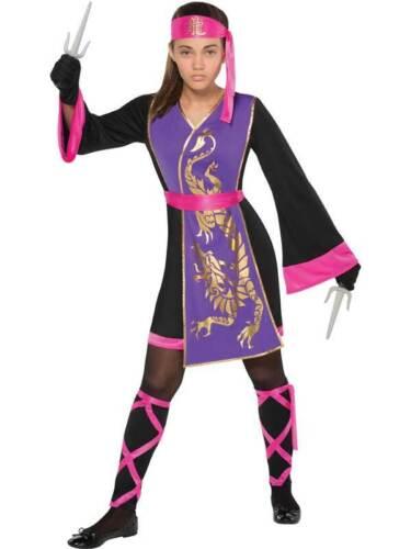 Teen Sassy Samurai Guerriero MORTAL KOMBAT Ragazze Costume Ninja Kids