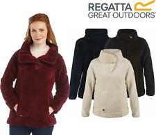 Regatta Womens Heze Fleece Teddy Fluffy 2 Pockets Turtle Neck