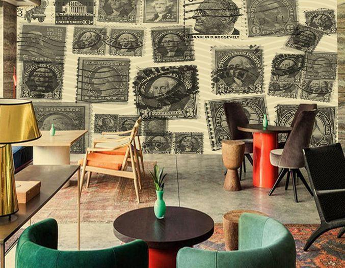 3D francobollo 46 Parete Murale Carta da parati immagine sfondo muro stampa